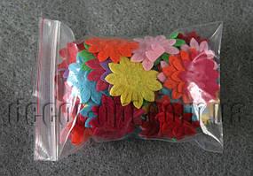 Фетровые заготовки-цветочки 3.2 см 100 шт