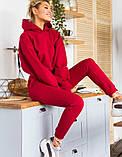 Теплий костюм трехнитка з начосом, 3 кольори, 40-46рр, фото 5