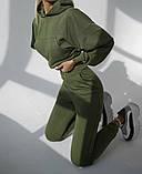 Теплий костюм трехнитка з начосом, 3 кольори, 40-46рр, фото 6