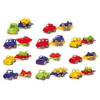 Игровой набор - «Kid Cars Sport» авто с прицепом