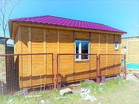 Деревянный каркасно-щитовой дом 33 м2