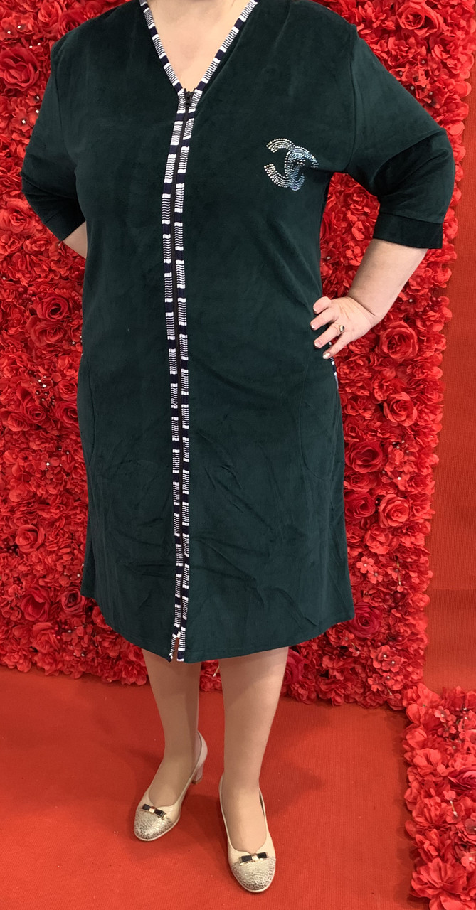 Халат женский велюровый (54 размер)