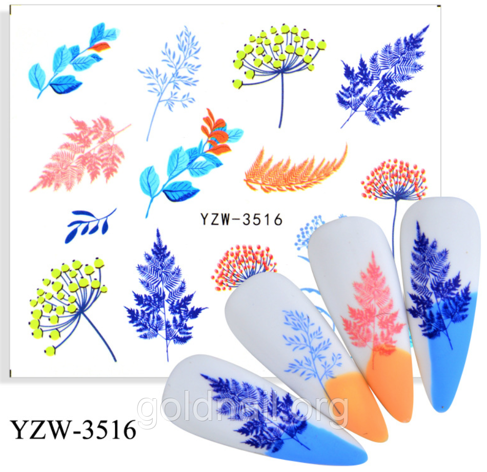 Слайдер водный для дизайна ногтей YZW-3516