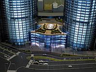 Презентационный макет архитектурного комплекса