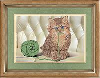 """Схема для вышивки бисером """"Кошеня з клубочком"""""""