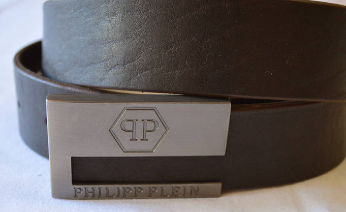 Кожаный ремень коричневый, фото 2