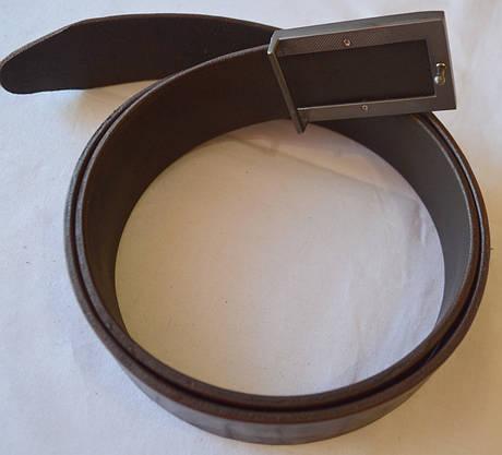 Кожаный ремень коричневый, фото 3