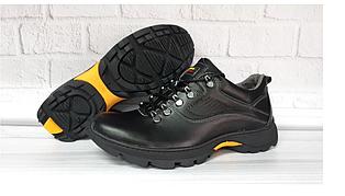 Мужские демисезонные кроссовки Ferum T-17 кожаные,черные