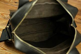 """Мужская сумка """"Модель №41"""" Кожа Итальянский краст цвет Кофе, фото 3"""