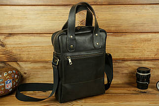 """Чоловіча сумка """"Модель №41"""" Шкіра Італійський краст колір Кава, фото 2"""