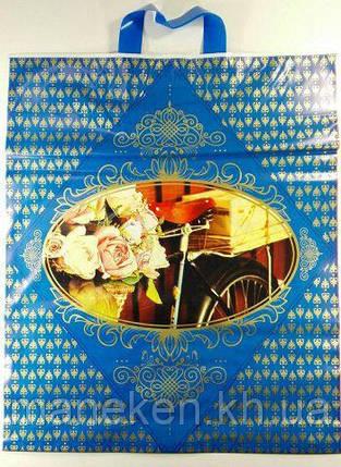 """Пакет с петлевой ручкой (42*50+3) """"Велосипед Романтик"""" (25 шт), фото 2"""