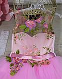 """Детское нарядное платье """"Цветы"""" с компьютерной вышивкой, фото 5"""