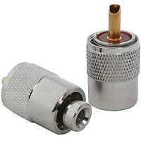 Штекер UHF под кабель RG-58, накрутка RG-141, LMR-195