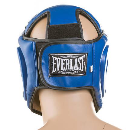 Боксерський шолом закритий Everlast кожзам Синій, фото 2
