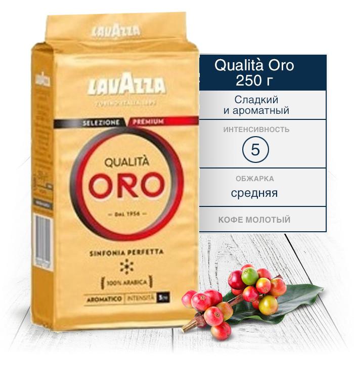 Кофе Lavazza Qualita Oro молотый 250 г (100% Италия)