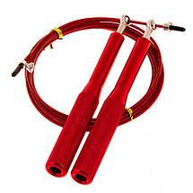 Фітнес скакалка для кроссфита, фітнесу Cima 3м, ручка алюміній, колір жовтий, червоний, синій, фото 3