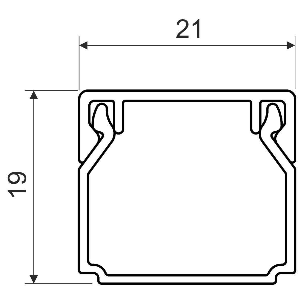LHD 20x20 I1 Короб ( бук)