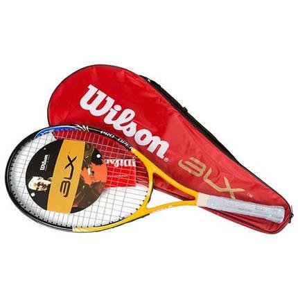 Ракетка для большого тенниса, теннисная ракетка Wilson, длина 27 дюймов, фото 2