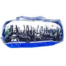 Волейбольная сетка с тросом, трос D=3,8 mm, ячейка 14*14 cm + сумка, фото 3