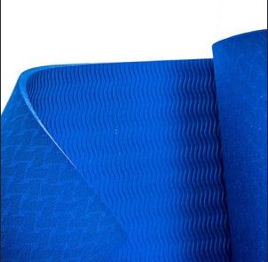 Коврик фитнес для йоги 6 мм, однослойный, 1730x750x6 мм, Оригинал TPE+TC + Подарок резинка, фото 2