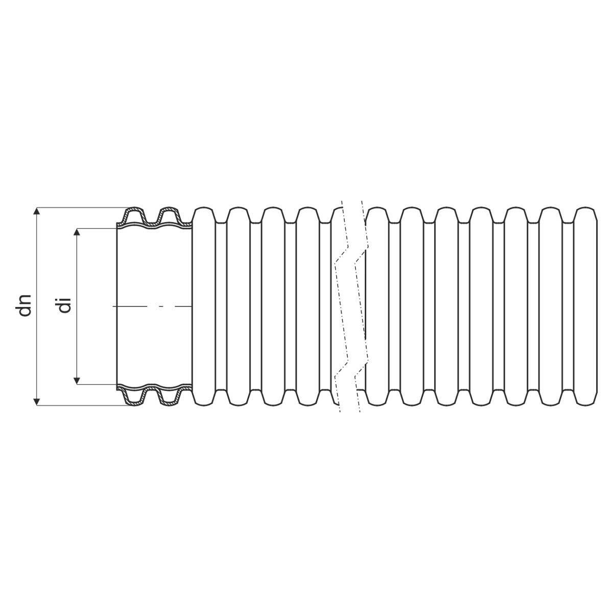 Труба гофрована гнучка двошарова Копофлекс, чорна, протяжка, ; Ø63мм; поліетилен HDPE; Бухта 50 м