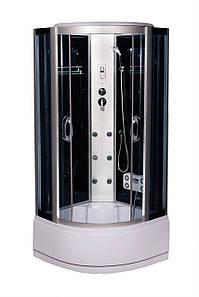 Гідромасажний бокс 90х90 Vivia 265-RC з електронним управлінням Black