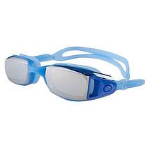 Очки для подводного плавания Dolvor, зеркалка, нос гибкий, цвета черный, синий, фото 3