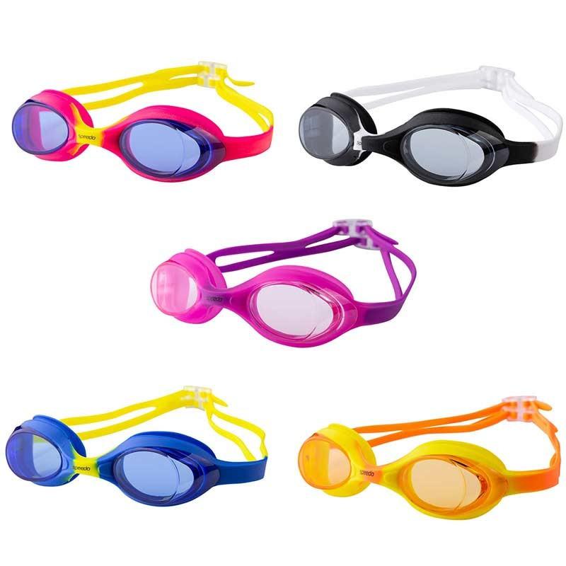 Очки детские для плавания Speedo, цвета разноцветные