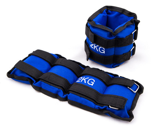 Обважнювачі для ніг 2 кг (2*1 кг), синій, вантажі для ніг, фото 2