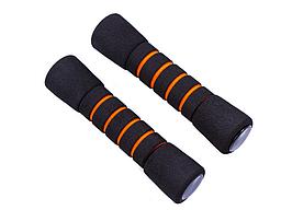 IronMaster гантели для фитнеса, неопрен, 1 кг х 2 шт, черно/оранжевые