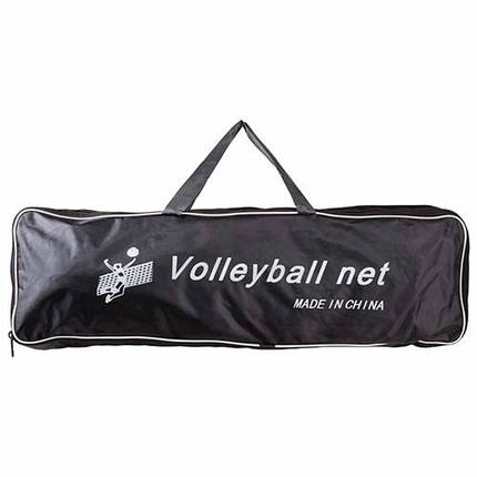 Волейбольна сітка з тросом, трос D=3,8 mm, осередок 12*12 cm + сумка, фото 2