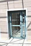 Двері протипожежні алюмінієві засклені до 90% ЕІ 30 зовнішні, фото 2