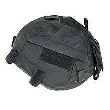 Чохол на каску кавер регульований чорний MFH Black 10501A