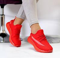 Кроссовки Красные женские летние текстильные