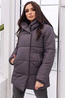 Куртка женская серая AAA 130143S