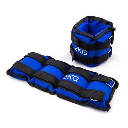Обважнювачі 2кг (2х1кг), синій., фото 2