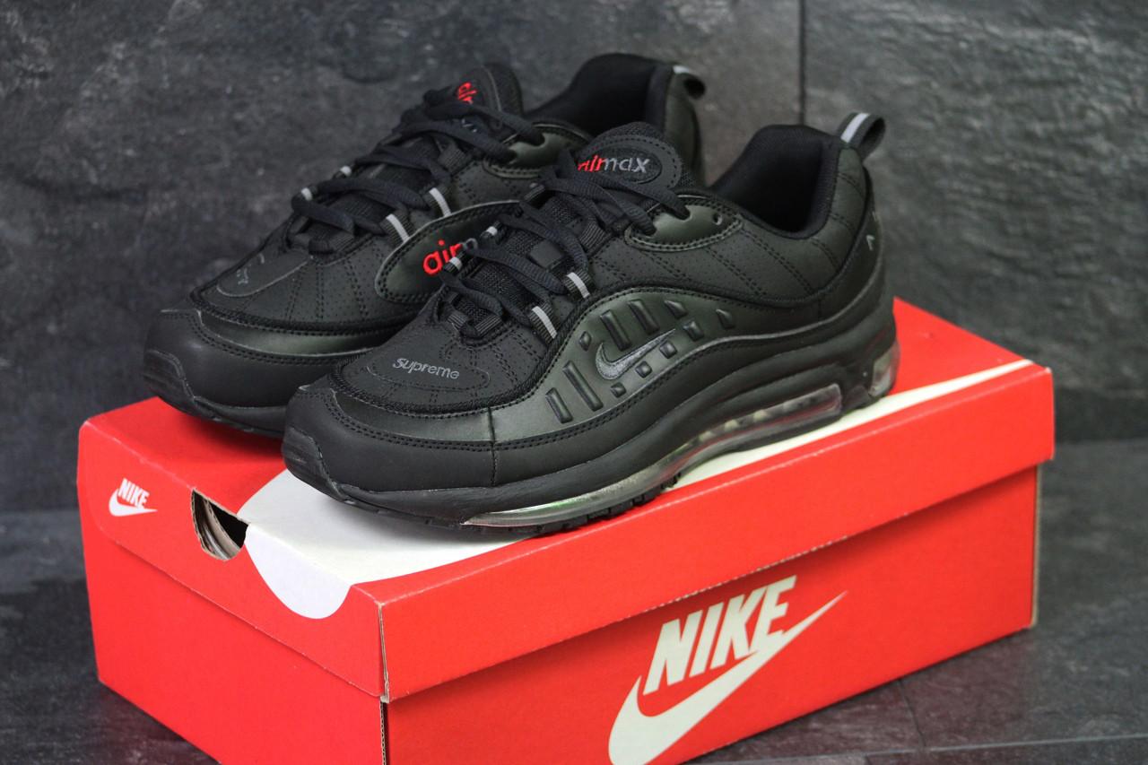 Кроссовки мужские демисезонные Nike Air Max 98 x Supreme черные
