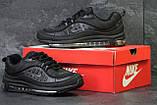 Кроссовки мужские демисезонные Nike Air Max 98 x Supreme черные, фото 4