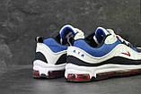 Кроссовки мужские демисезонные Nike Air Max 98 x Supreme белый с синим, фото 2