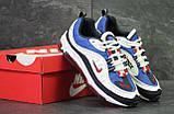 Кроссовки мужские демисезонные Nike Air Max 98 x Supreme белый с синим, фото 4