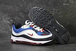 Кроссовки мужские демисезонные Nike Air Max 98 x Supreme белый с синим, фото 5