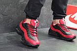 Мужские кроссовки демисезонные Nike 95, черные с красным, фото 2
