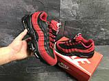 Мужские кроссовки демисезонные Nike 95, черные с красным, фото 3