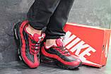 Мужские кроссовки демисезонные Nike 95, черные с красным, фото 5