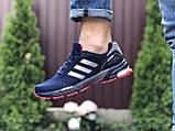 Мужские летние кроссовки Adidas Marathon, сетка темно синие, фото 3