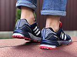 Мужские летние кроссовки Adidas Marathon, сетка темно синие, фото 4