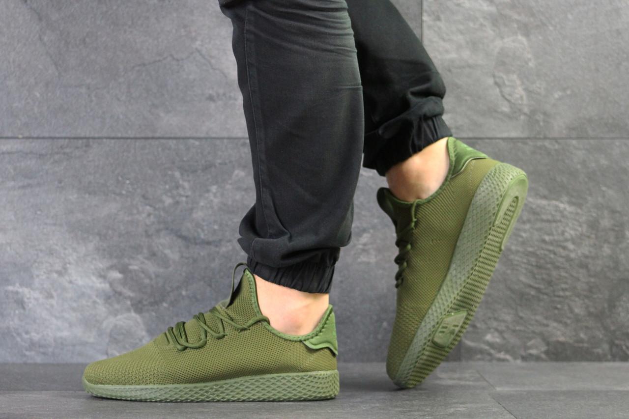 Кросівки чоловічі Adidas Pharrell Williams (репліка), артикул 7957 темно зелені