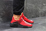 Мужские летние кроссовки Adidas NMD Human RACE, красные сетка, фото 2