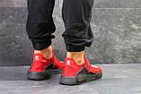 Мужские летние кроссовки Adidas NMD Human RACE, красные сетка, фото 3
