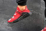 Мужские летние кроссовки Adidas NMD Human RACE, красные сетка, фото 4